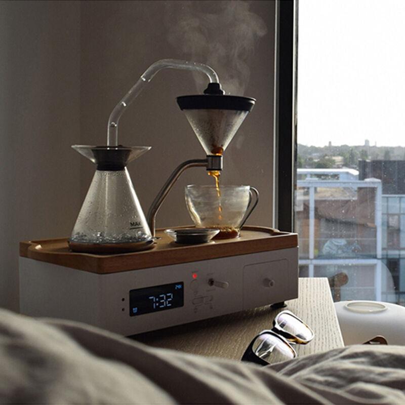 Coffee Alarm Clock White, large