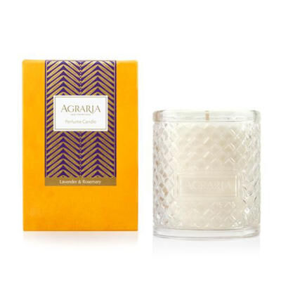 LAVENDER AND ROSEMARY WOVEN CRYSTAL CANDLE