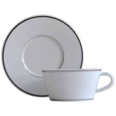 ARGENT TEA CUP AND SAUCER