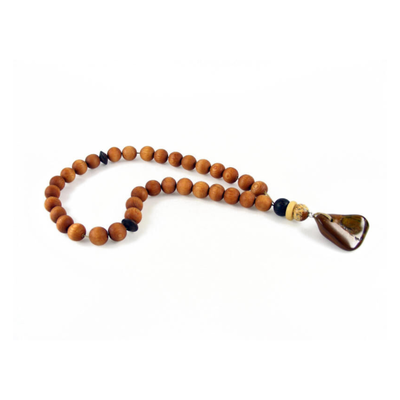 MASBAHA ROSARY EXOTIC WOOD TIGER'S EYE