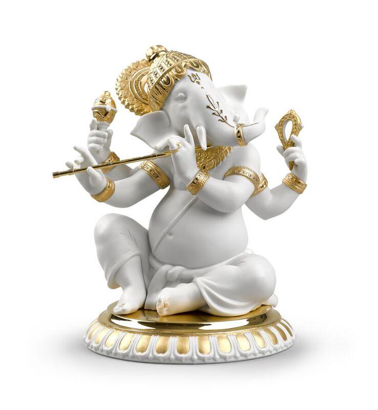 Bansuri Ganesha Figurine, large