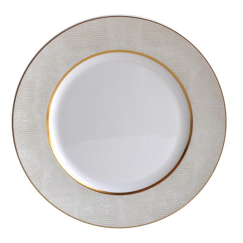 Sauvage Blanc Rim Soup Plate, large