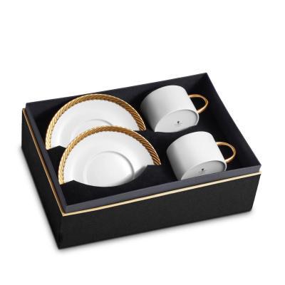 Corde Tea Cup + Saucer Set of 2