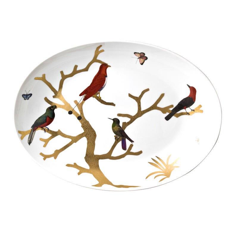 Aux Oiseaux Coupe Oval Platter, large