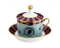Cirque Des Merveilles Tea Cup With Saucer And Cover, small