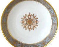 AUX ROIS/FLANEL RIM SOUP PLATE, small