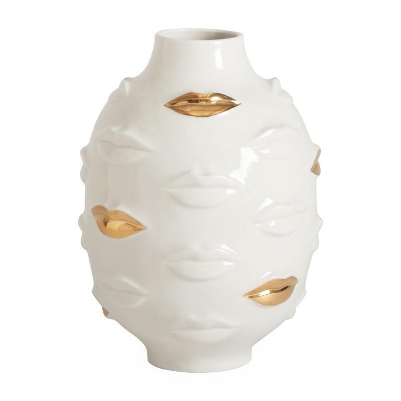 Gilded Gala Round Vase, large