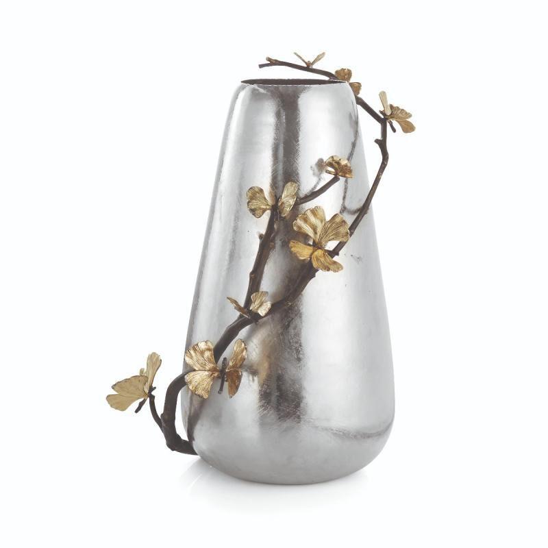 Butterfly Ginkgo Vase, large