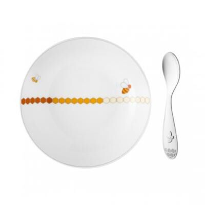 Beebee Cereal Bowl And Baby Spoon