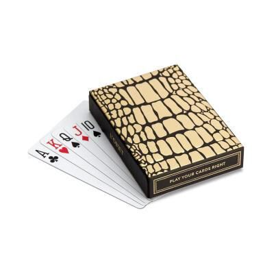 Crocodile Box with Playing Cards - 2 Decks