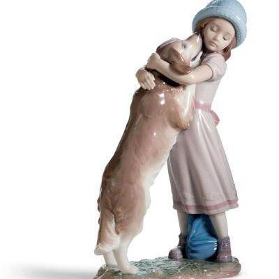 A Warm Welcome Dog Figurine