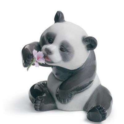 A Cheerful Panda Figurine
