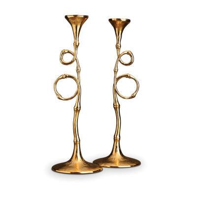 Evoca Candlesticks Gold Set Of Two