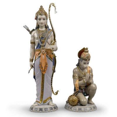 Lakshman and Hanuman Sculpture. Limited Edition