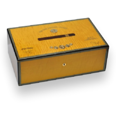 Humidor Medals Yellow sycamore for 50 cigars