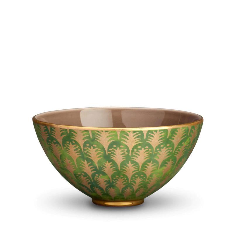 Fortuny Piumette Green Medium Bowl, large