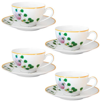 Jardin Indien Tea cup and saucer - Set of 4