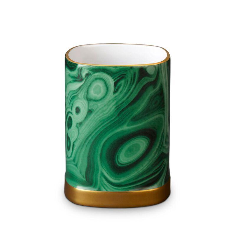 Malachite Pencil Cup, large