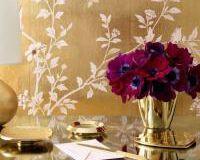 Gilded Clover Vase, small