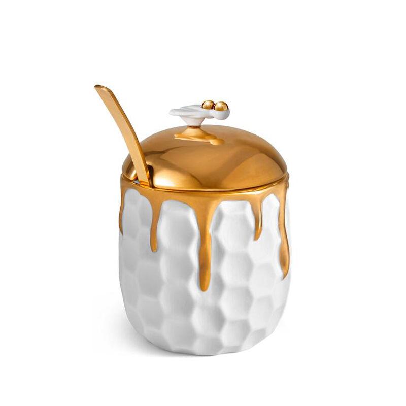 وعاء عسل بتصميم خلية نحل, large
