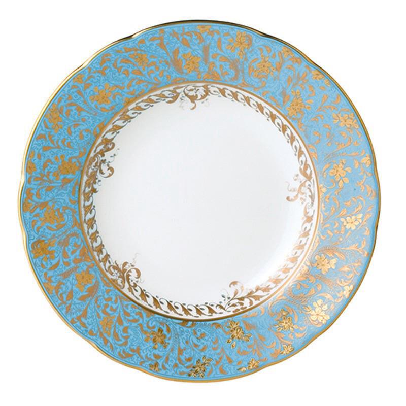 Eden Turquoise Rim Soup Plate, large