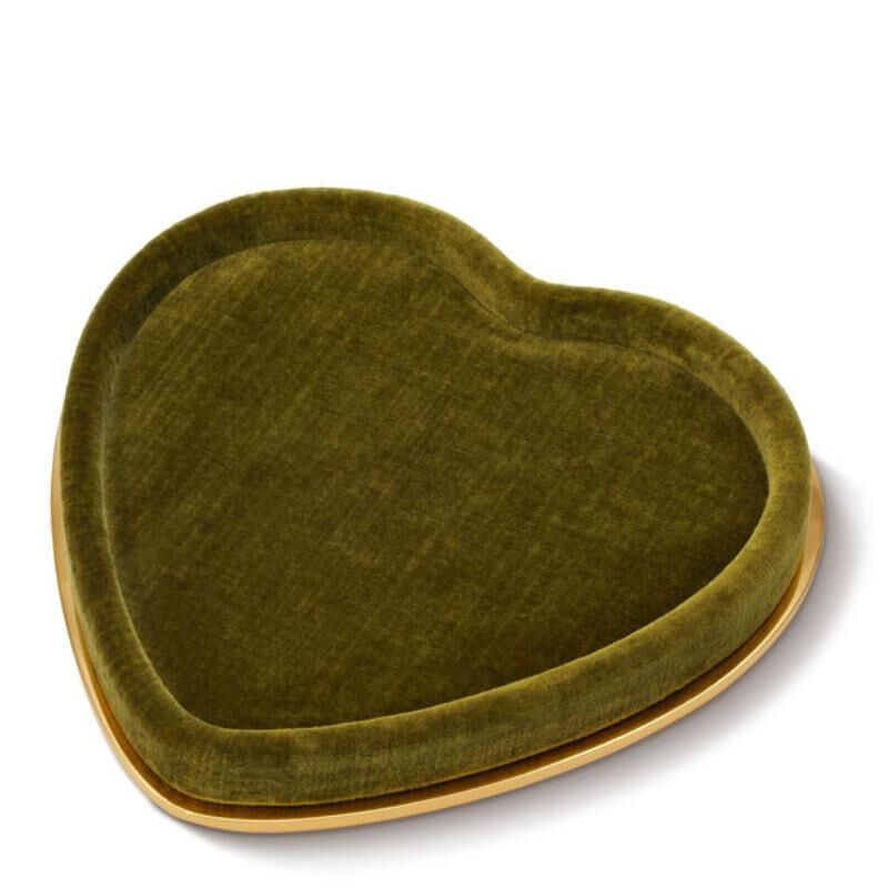 Valentina Velvet Heart Tray, large