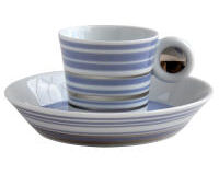 Lampeduza Set Of 6 Coffee Cups & Saucers Lavender Blu, small