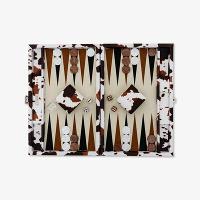 Cow Skin Medium Backgammon Set