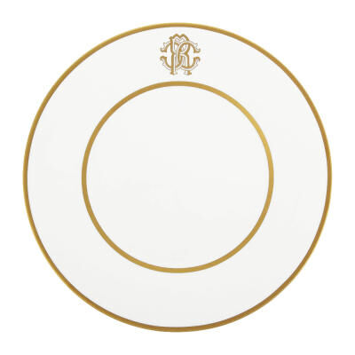 SILK GOLD ROUND SERVING DISH 33 cm