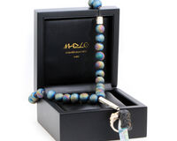 Masbaha Prestige Electroplated Drusy Geode Agate With Box, small