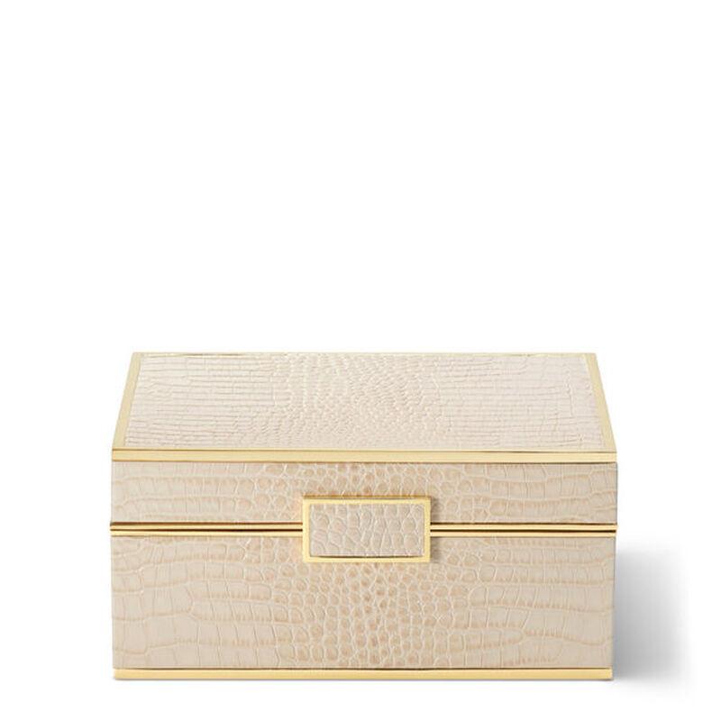 صندوق مجوهرات من جلد التمساح, large