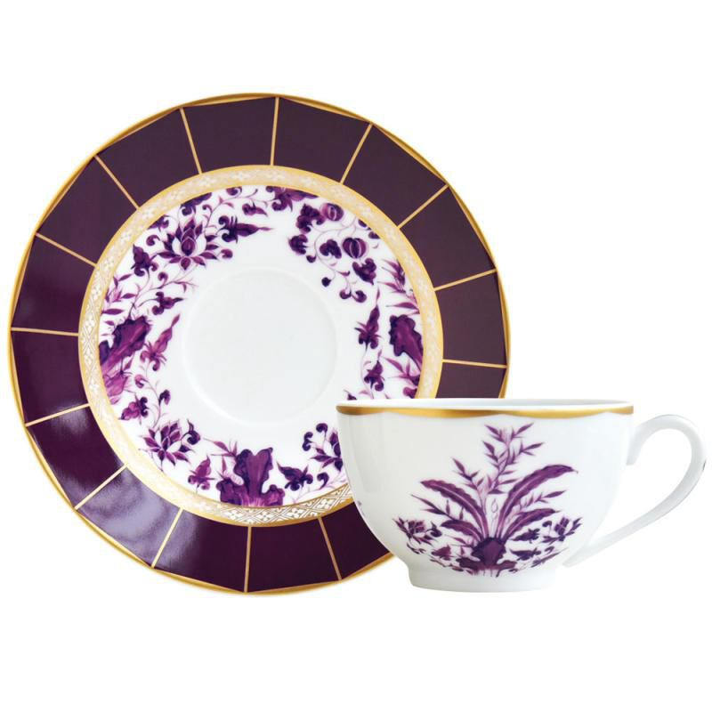 برونس كأس شاي و صحن, large