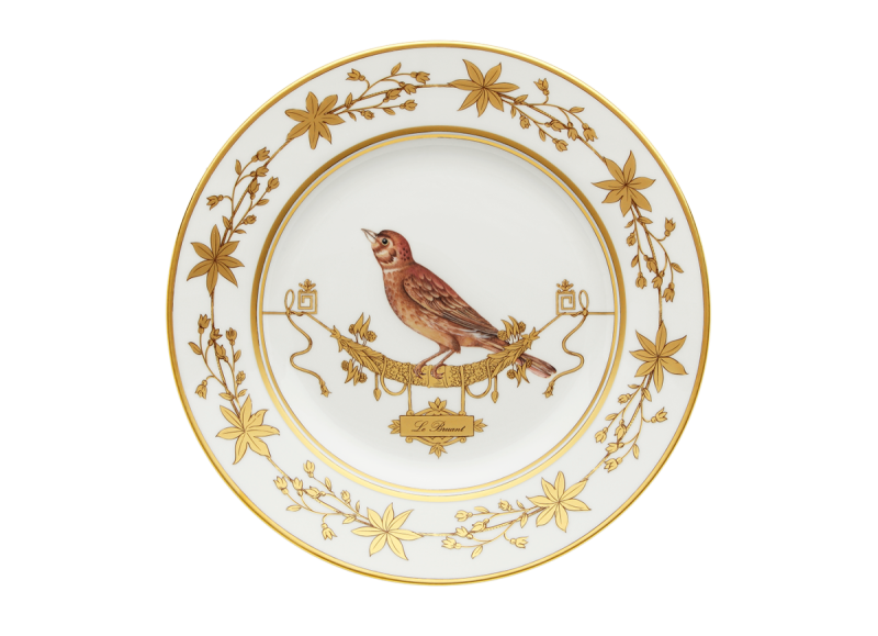 Dinner Plate Volière Le Bruat, large