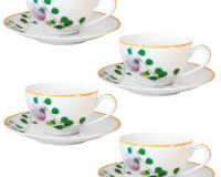 Jardin Indien Tea Cup And Saucer - Set Of 4, small