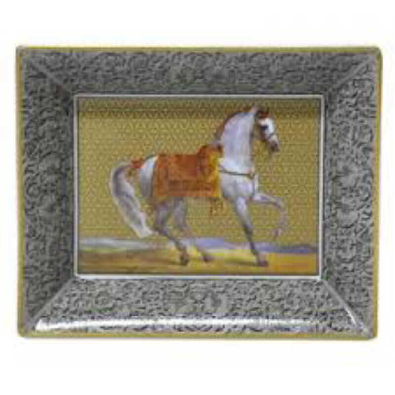 Cavallo Blanc Rectangular Ashtray, large