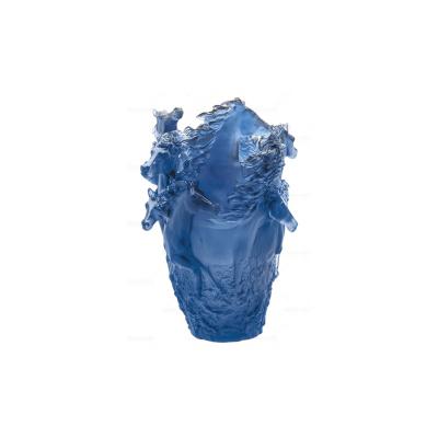 Blue Horses Vase - Large