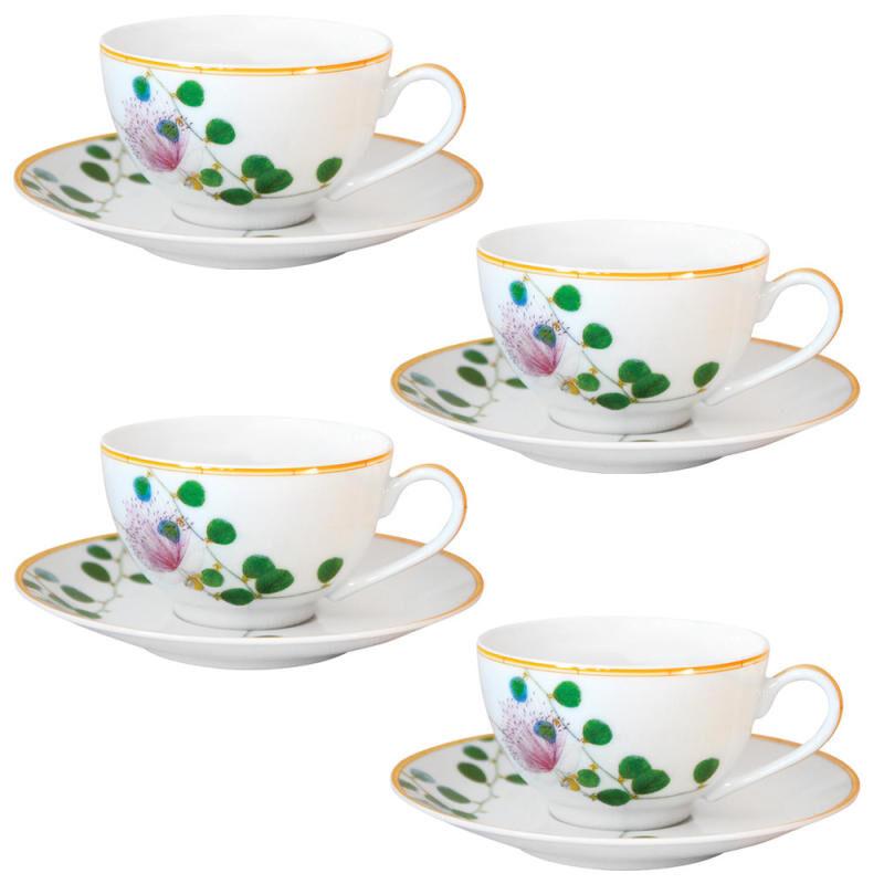 Jardin Indien Tea Cup And Saucer - Set Of 4, large