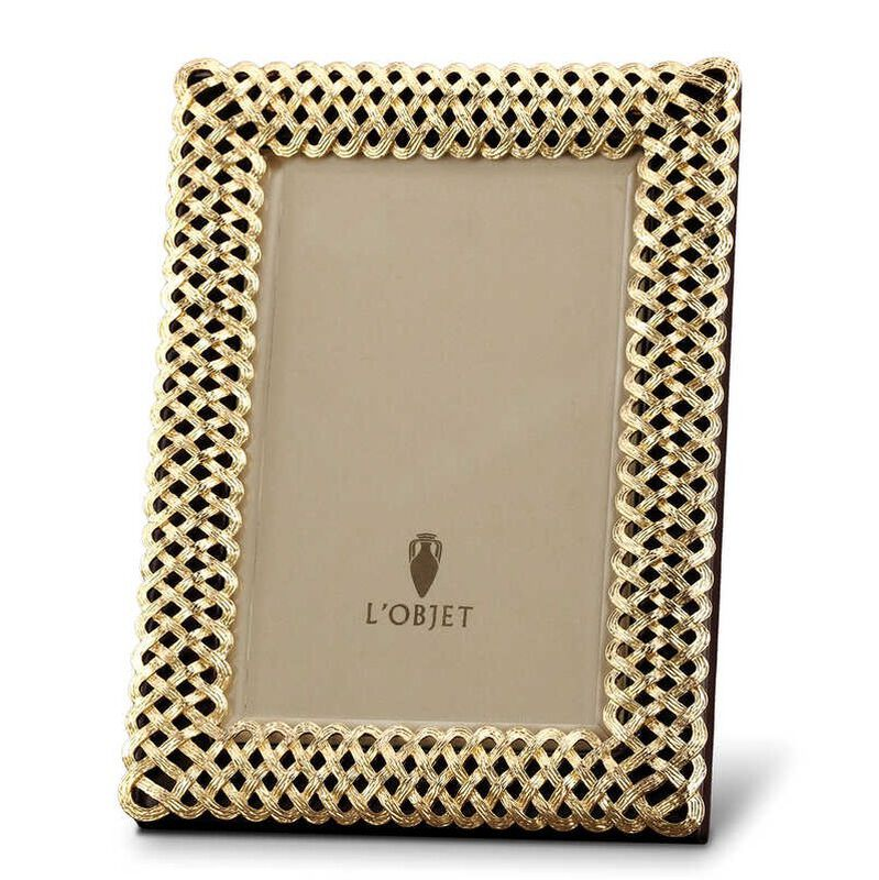 Gold-Plated Braid 4x6 Photograph Frame, large