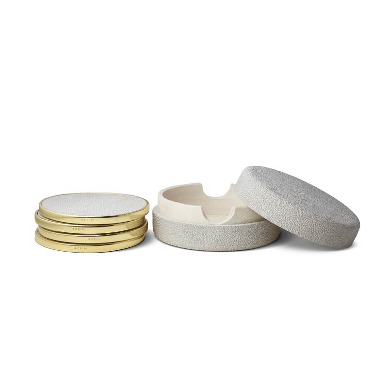 Shagreen Costers Set, large