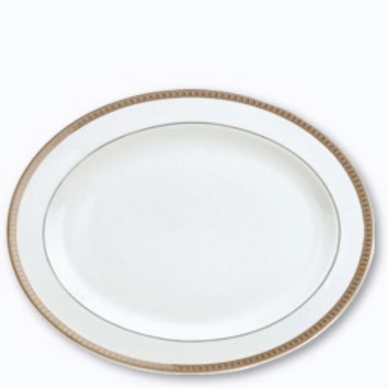 Malmaison Platine Oval Platter, large