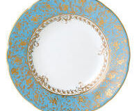 Eden Turquoise Rim Soup Plate, small