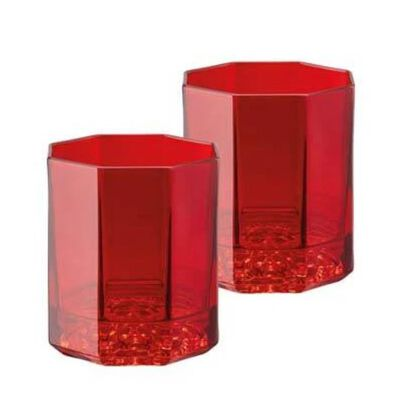 مجموعة من قطعتين من ويسكي الأحمر