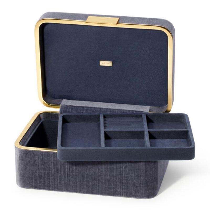Beauvais Velvet Jewelry Box, large
