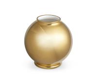 مزهرية ماريون دائرية  مطلية بالذهب, small