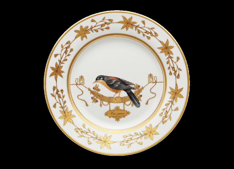Dinner Plate Volière Cou Jaune, large
