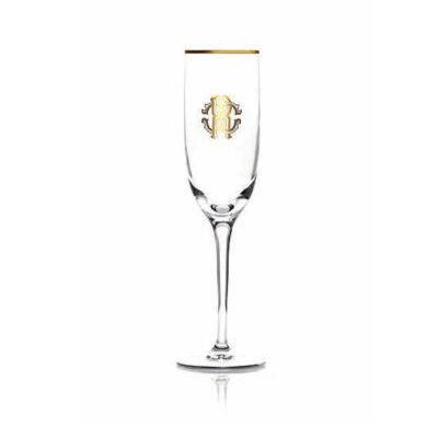 Monogramma Gold Champagne Goblet