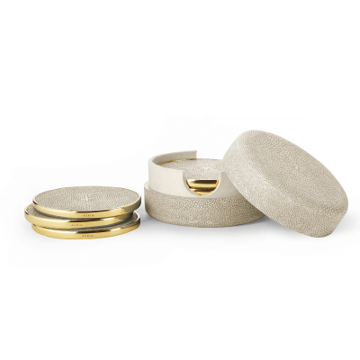Shagreen Coasters Set