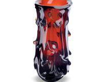 Soul Ooze - Deep Amber Vase, small