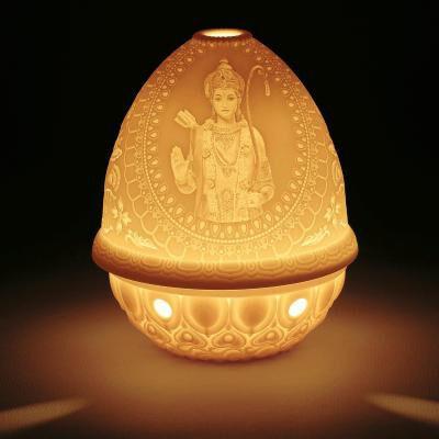 Lithophane Votive Light - Lord Rama