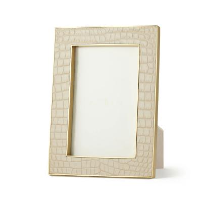 Croco Leather Frame